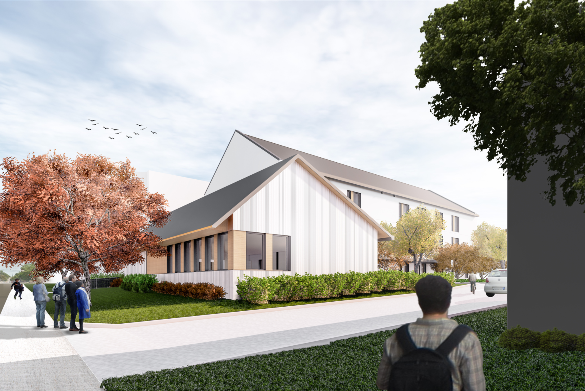 View of Brock Misson dining hall, rendering courtesy Lett Architects