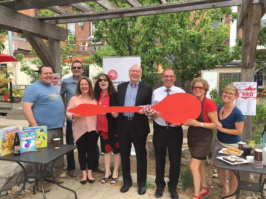 Photo from Paint the Town Red Media Launch courtesy United Way of Peterborough