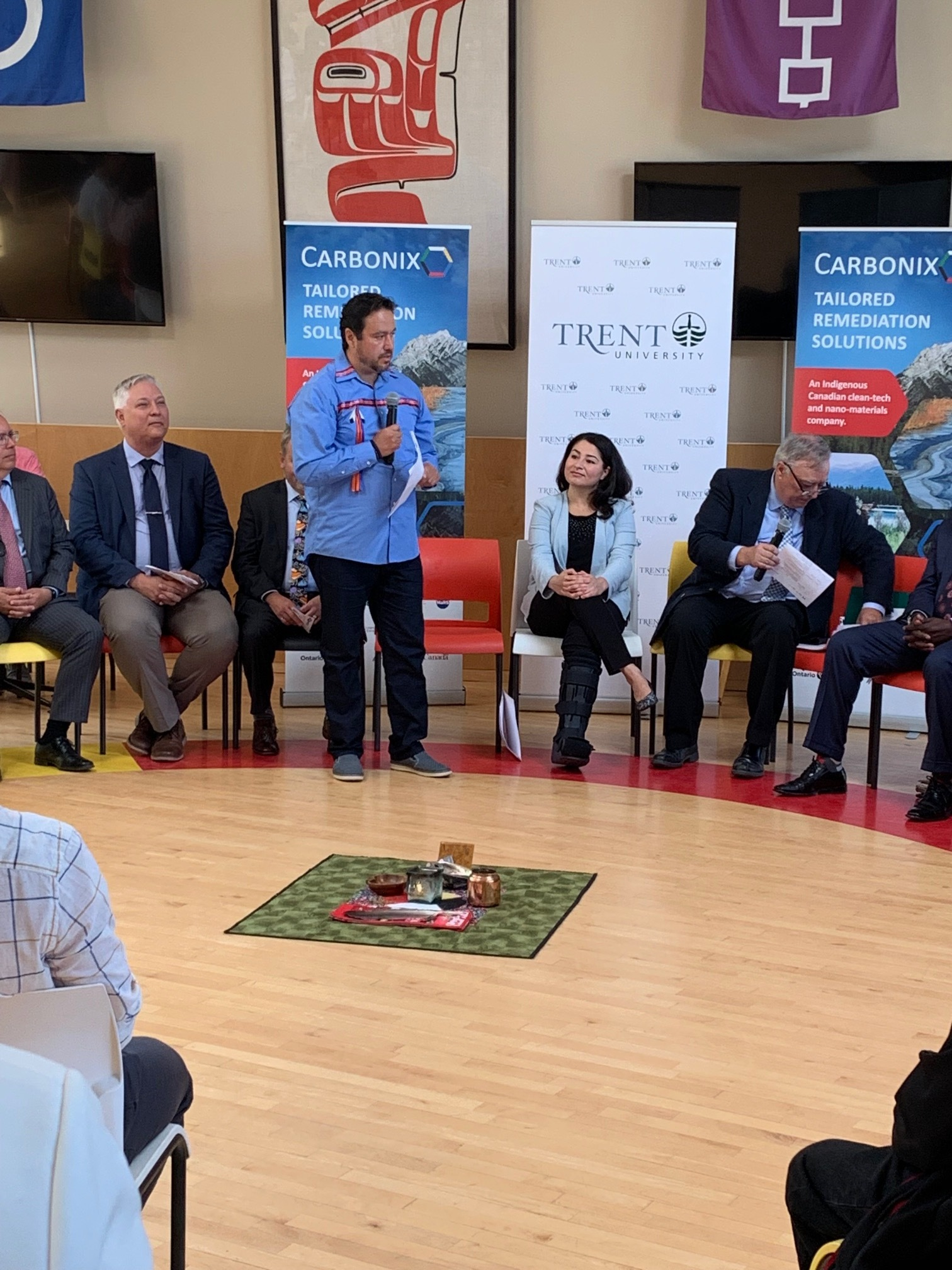 Carbonix Co-Founder Darren Harper speaking at announcement (Photo by Neil Morton, PTBOCanada)