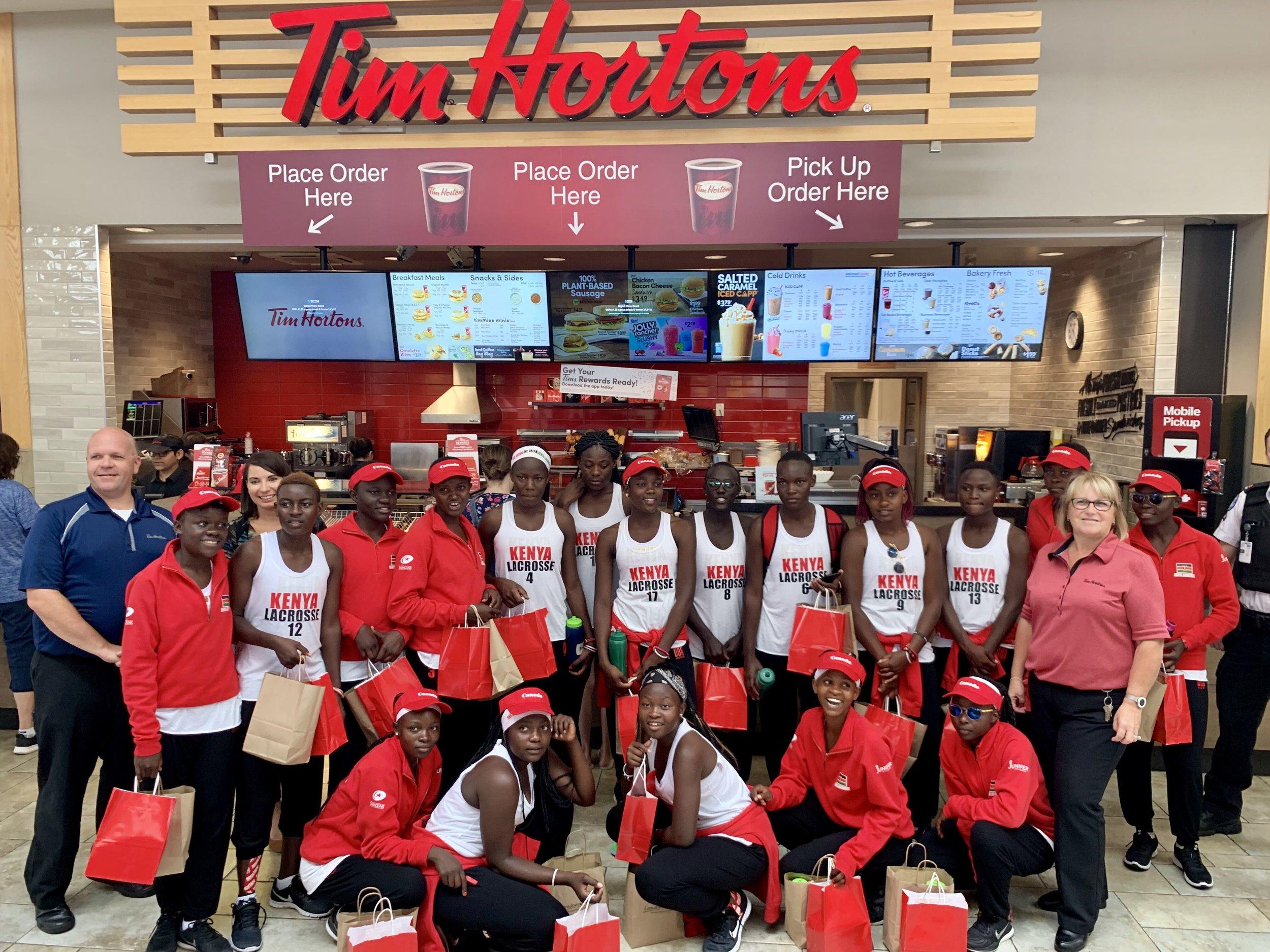 The team at Tim Horton's Lansdowne Place