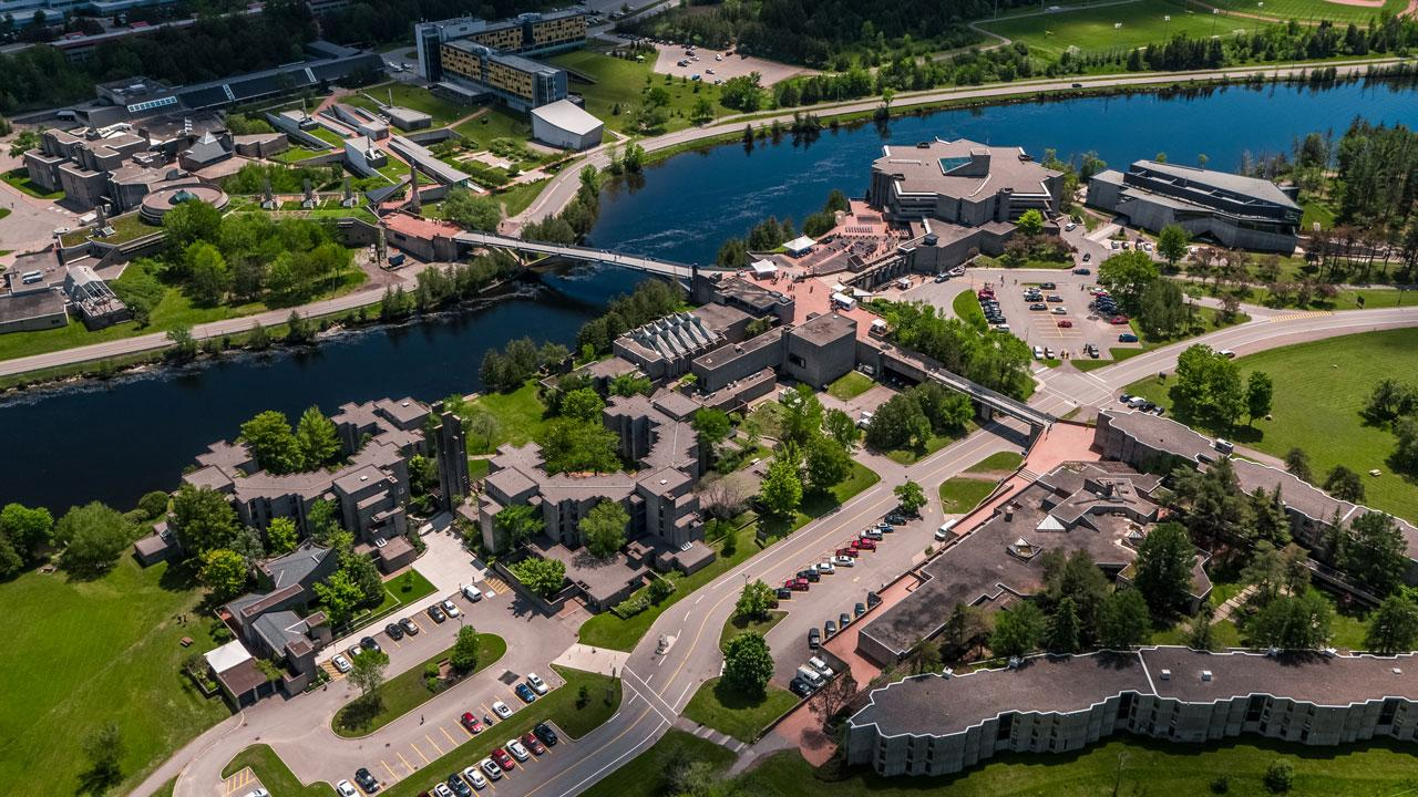Photo of Symons Campus courtesy Trent University