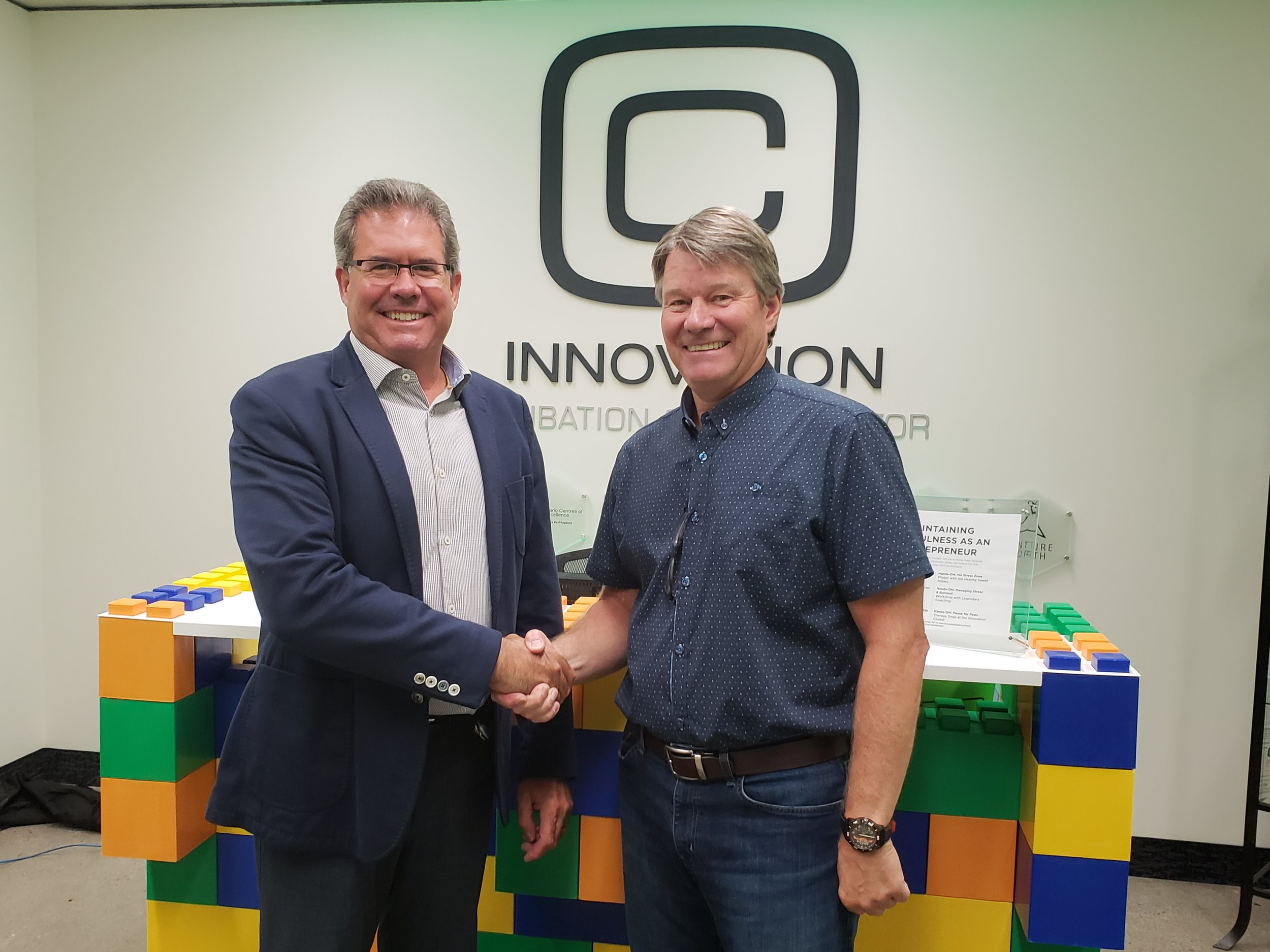 Pat Devlin and John Gillis at Innovation Cluster