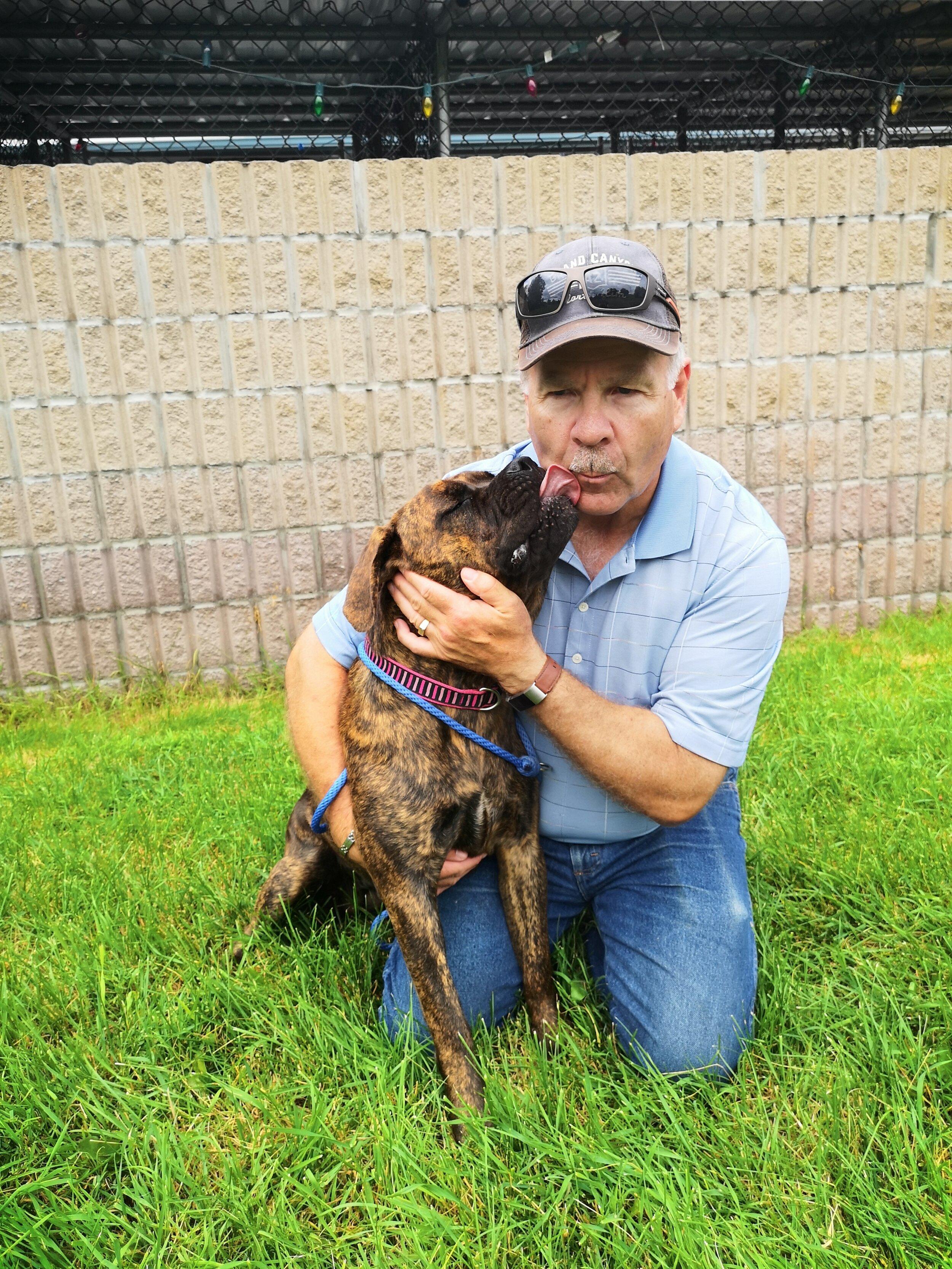 Todd Leask and PHS dog, Baxter