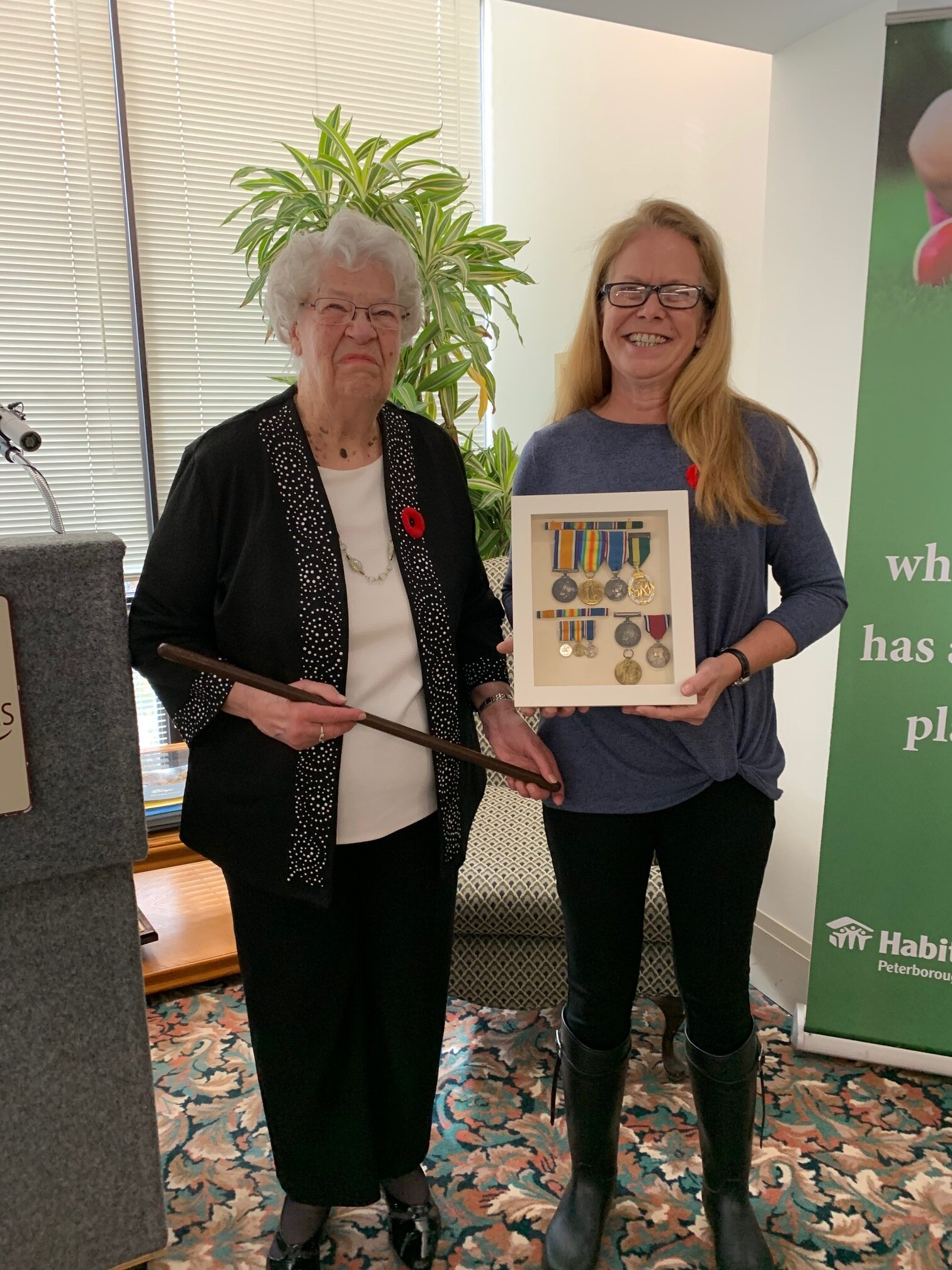 Catherine Allen pictured with Jill Bennett from Habitat Peterborough (photo by Neil Morton)