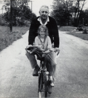 Robert O'Brien and me, riding in Westport, circa 1965