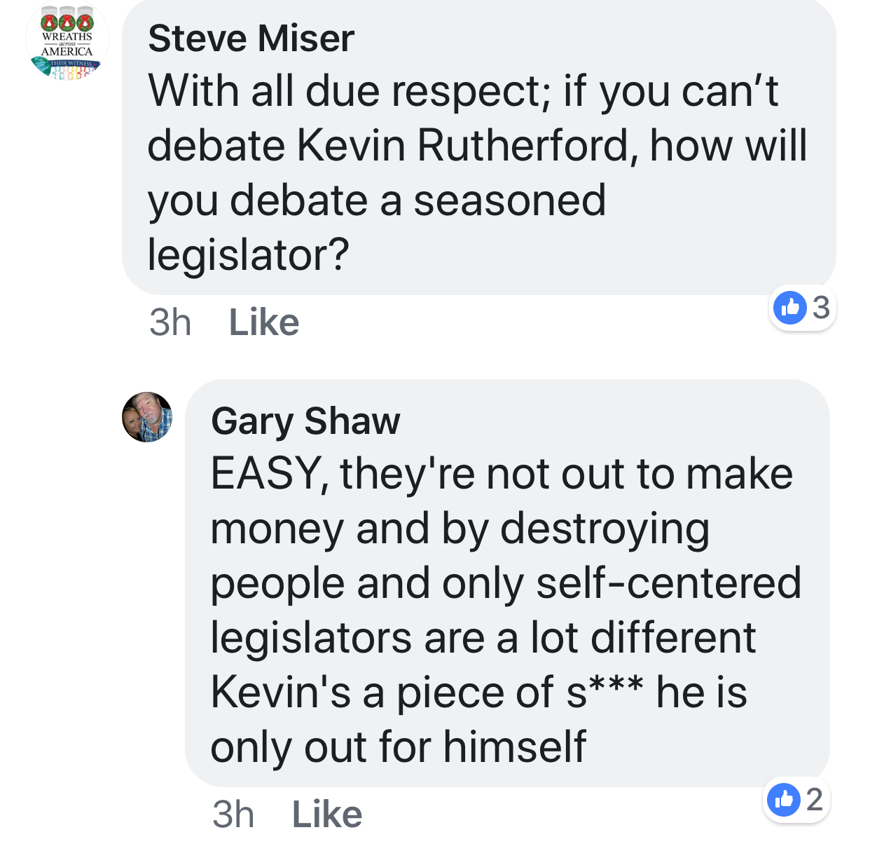 Mr. Shaw's reply to a question in the UDAA Facebook Group.