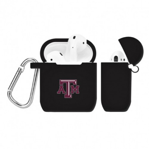 Texas A&M Aggies Black Silicone Cover for Apple AirPod Battery Case   This case is made of premium silicone and is precision molded for a perfect fit. Our industry leadin..   $16.99