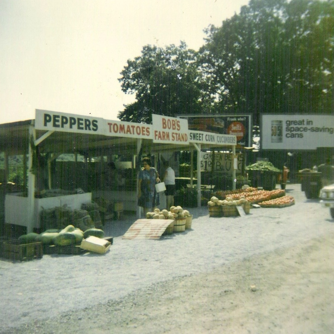 Bob's Farm Stand on Route 6, late 1960s