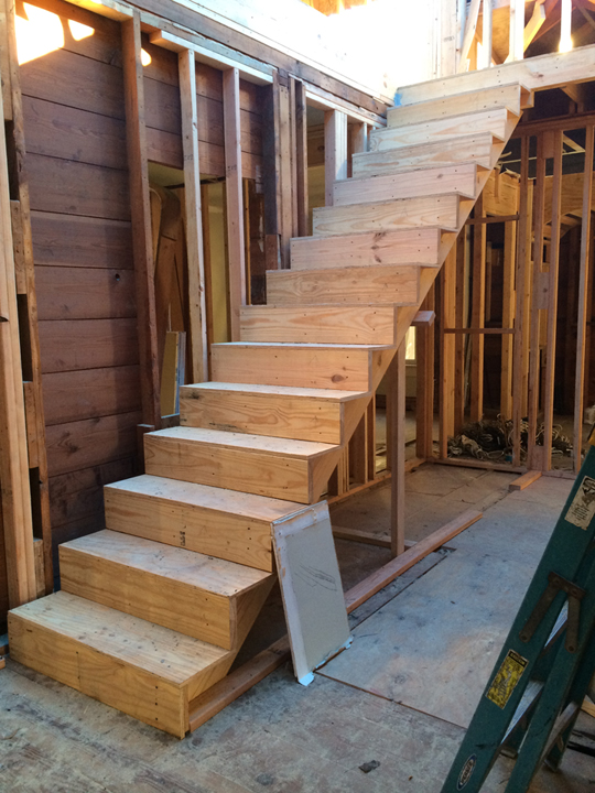 New double height stair hall.