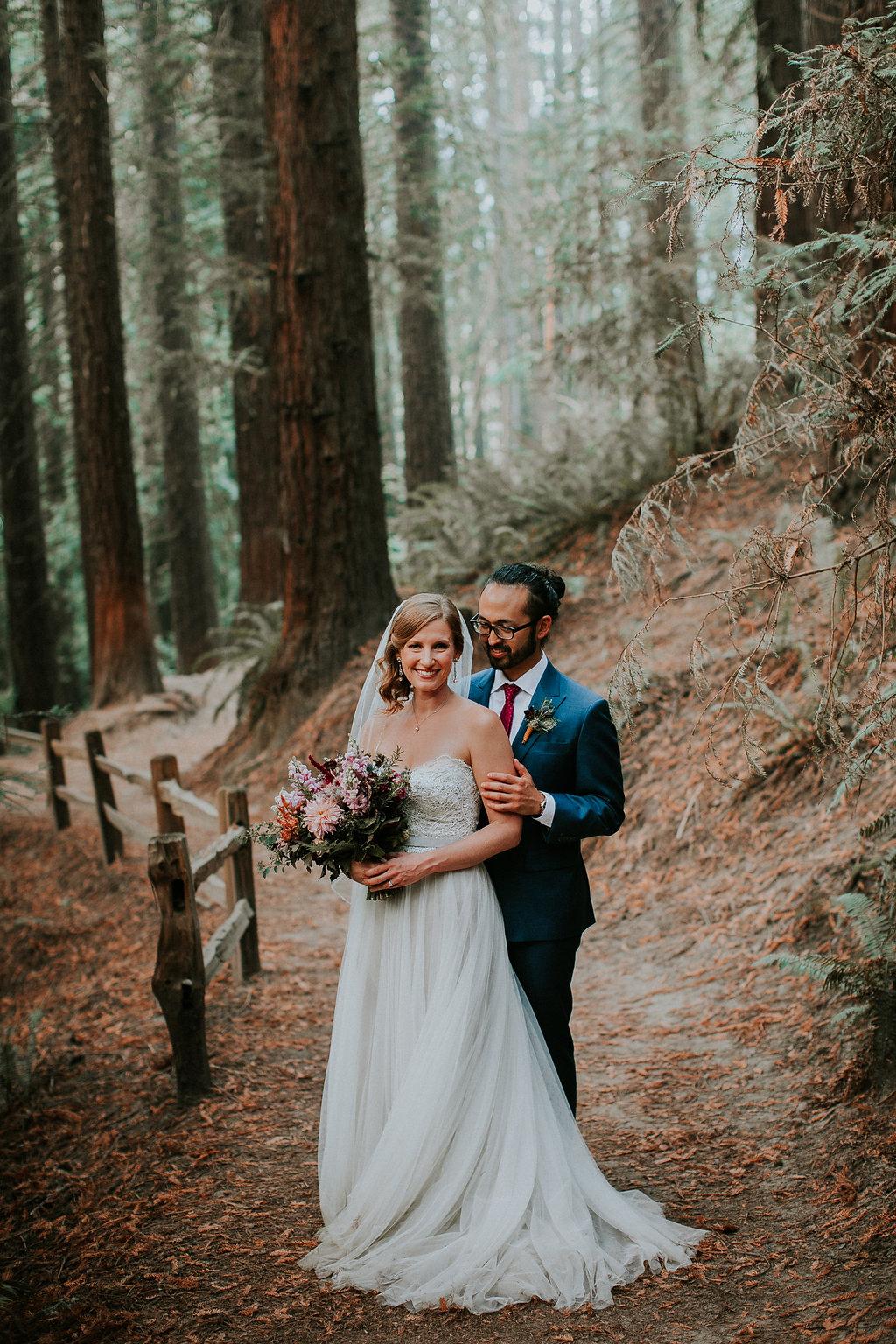 Small wedding at Hoyt Arboretum