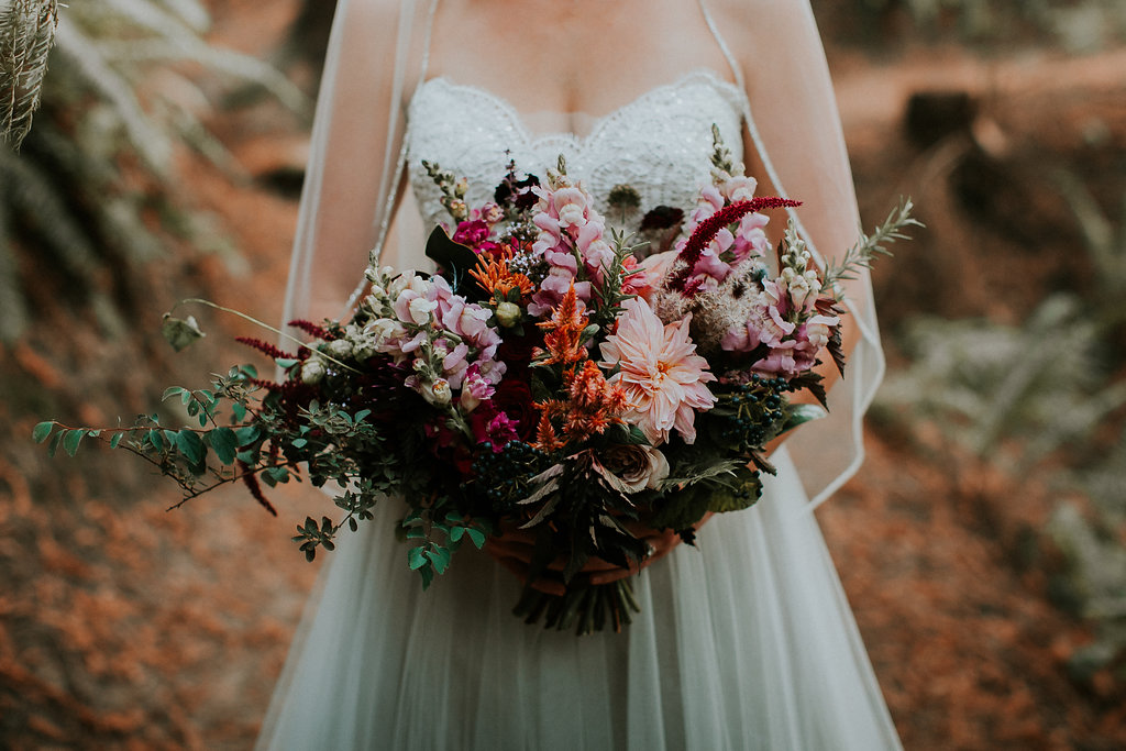 Bridal bouquet with lots of texture at Hoyt Arboretum