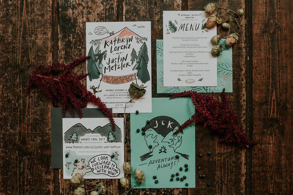 Wild wedding with hops in Portland Oregon