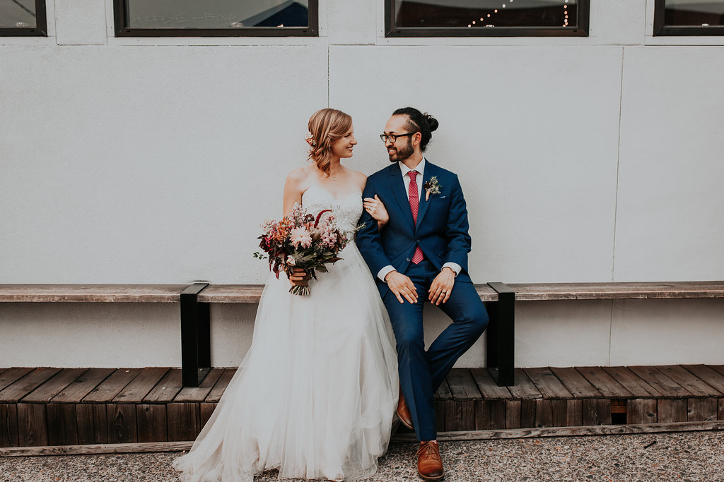 Bridal bouquet at Union Pine in Portland Oregon