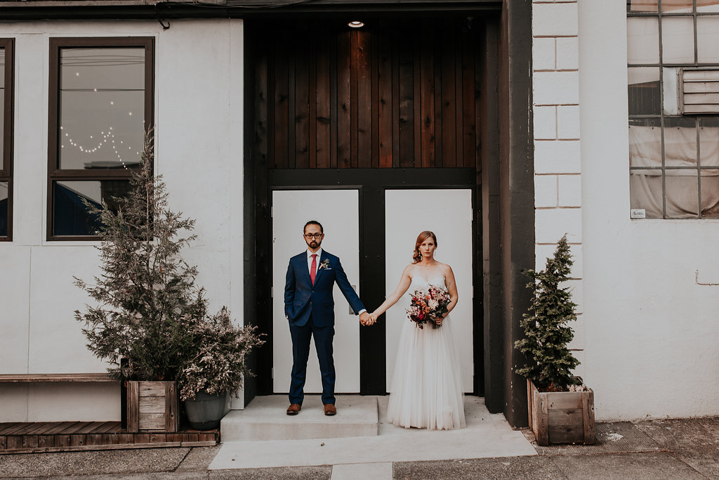 Union Pine wedding reception with woodland bouquet