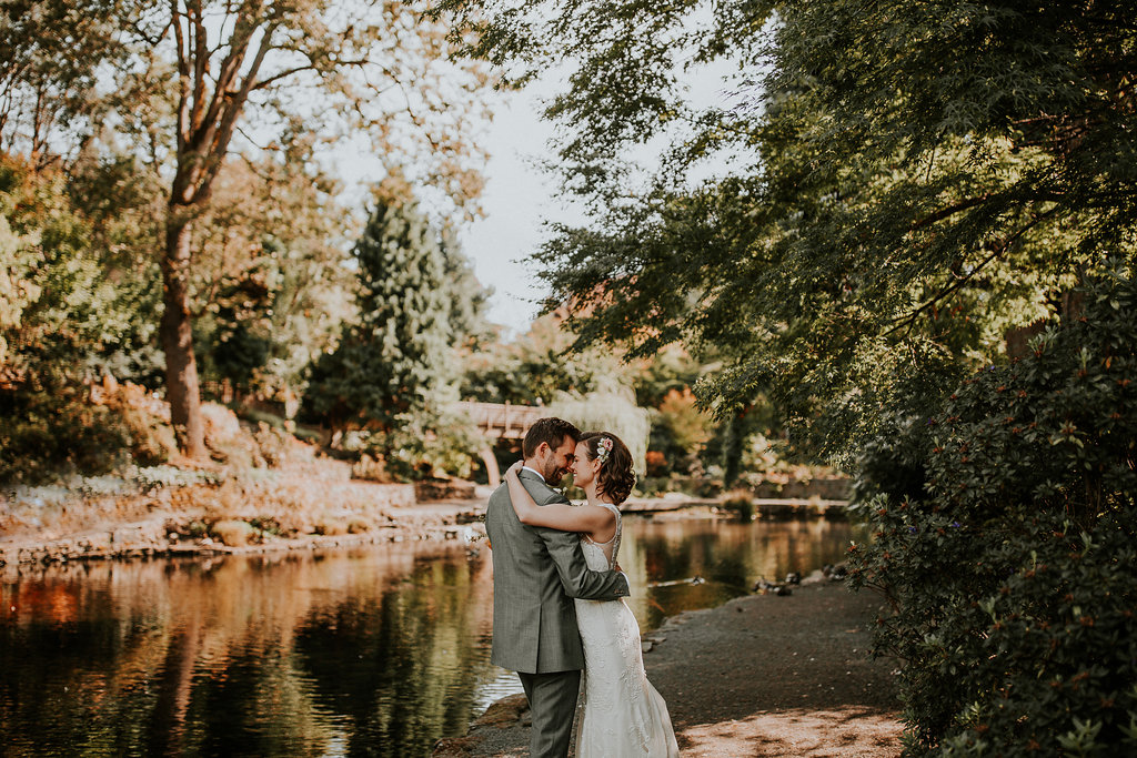 Portland wedding at the Rhododendron Gardens
