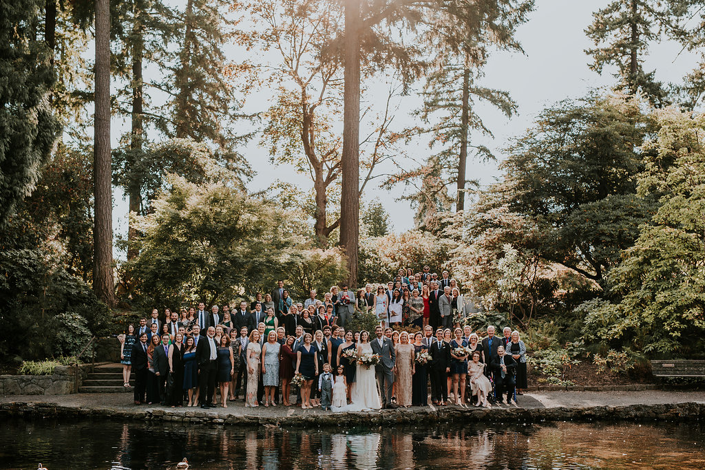 all all the wedding guests at the Rhododendron Gardens