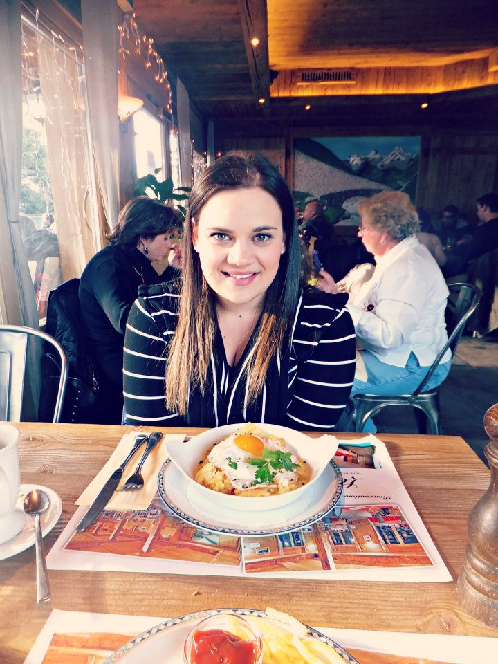 Me having my first Rösti in Switzerland in 2012.