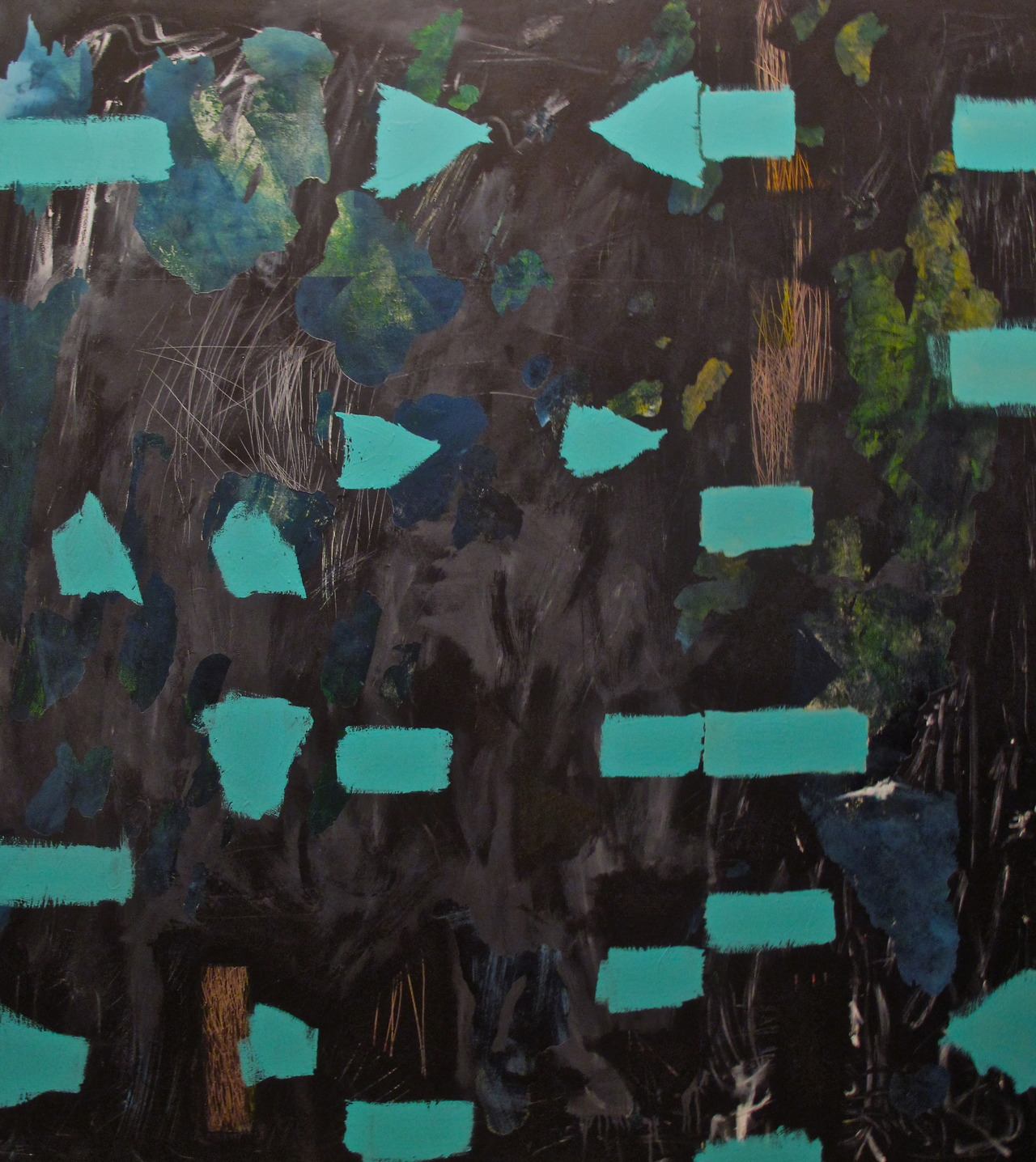 K черту  , 2013. Acrylic on canvas. 72 x 64.