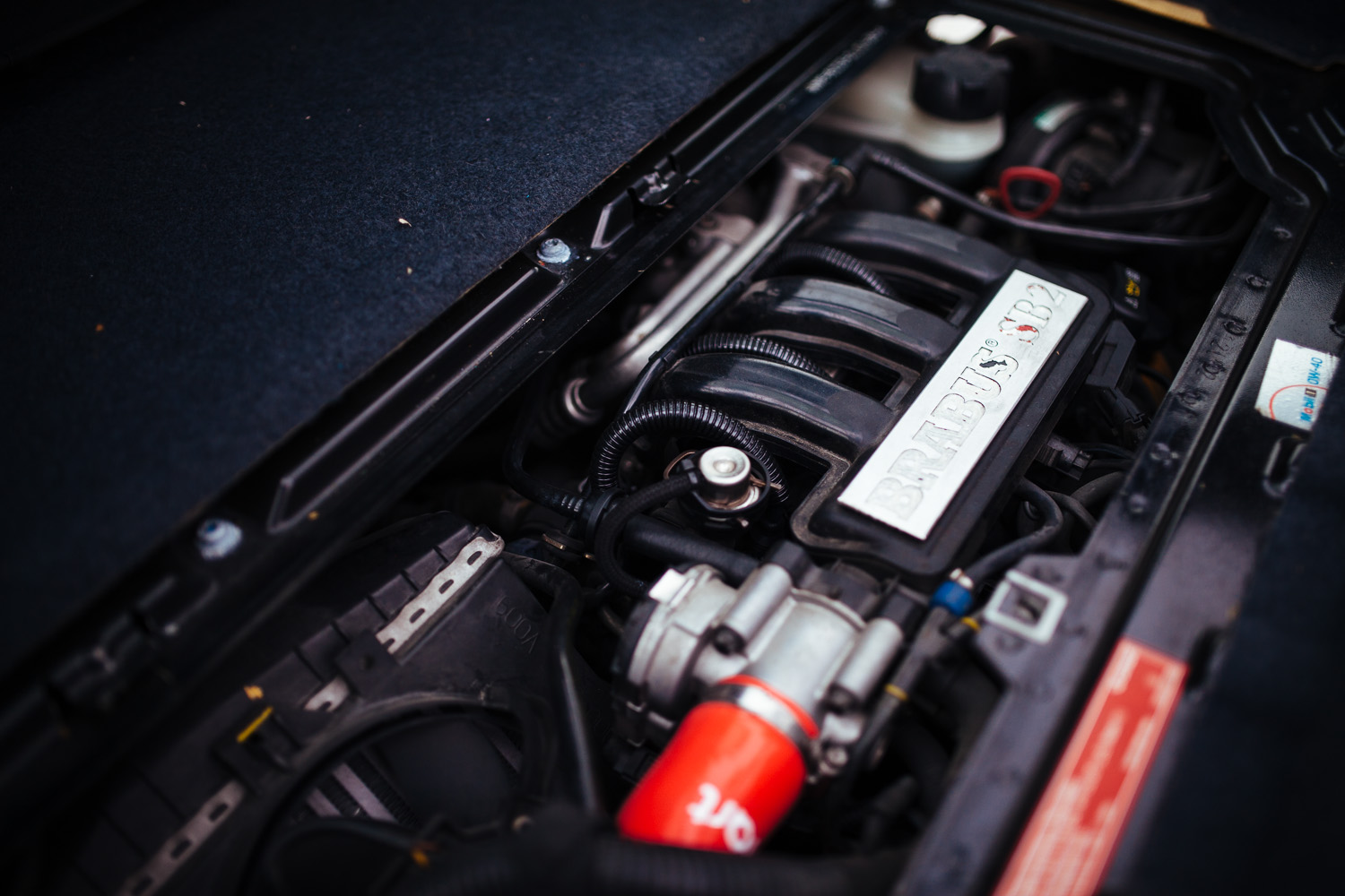 The Brabus SB2 performance kit were offered as a free opt-in upgrade. It's an  ECU remap , boosting output by about 10%.