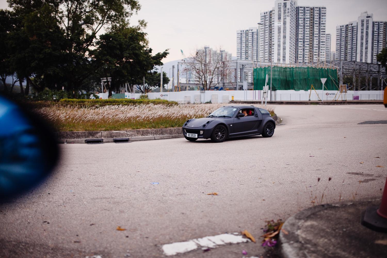 Empty road, happy time.