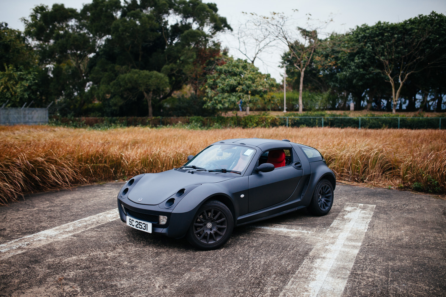 I do think the red interior complements the matte black very well.