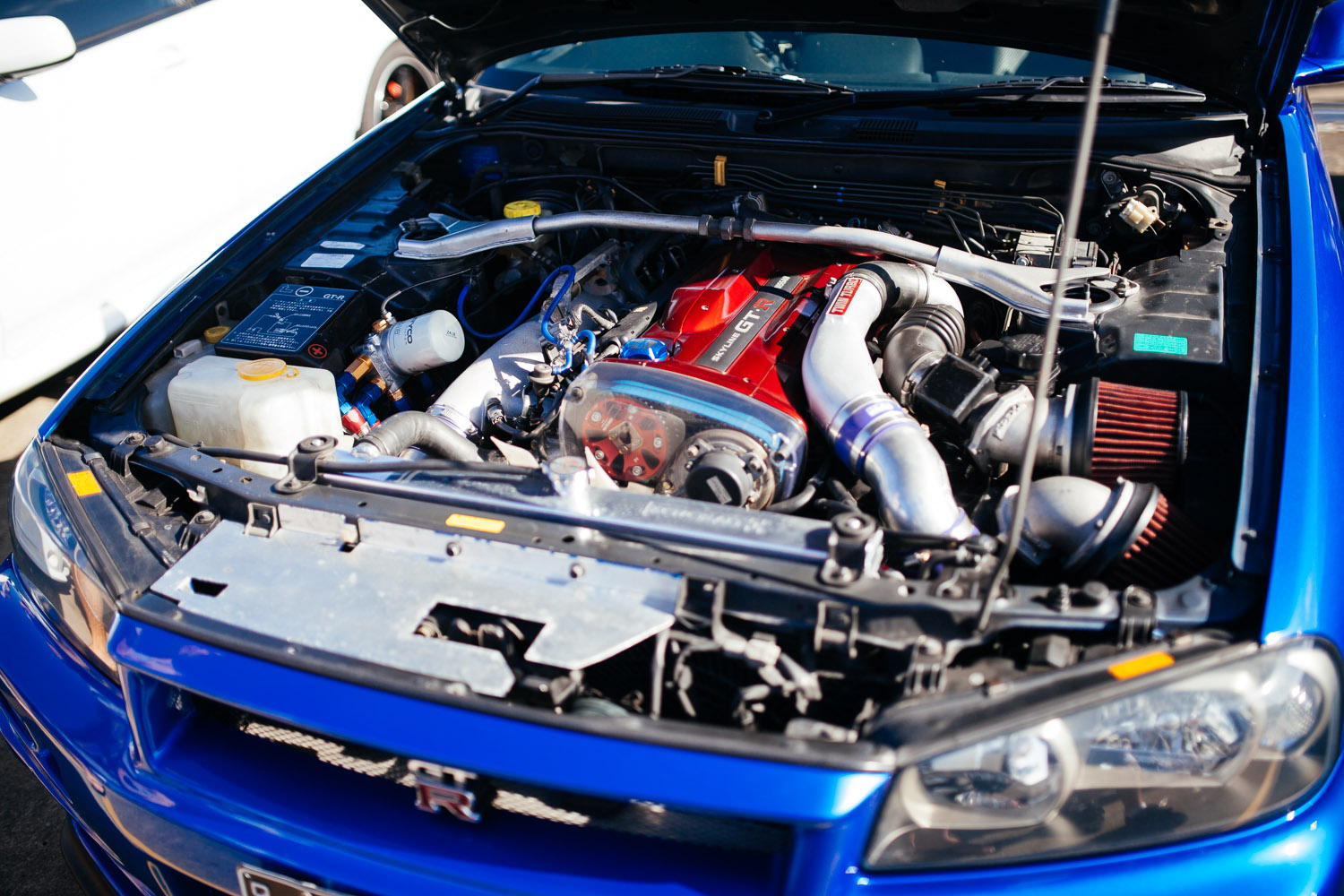 Sparkling clean engine bay.