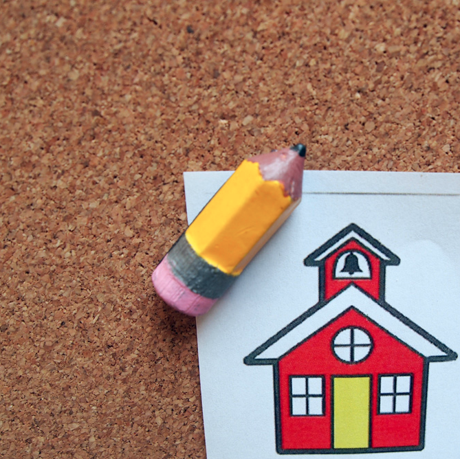 Pencil Corner Keeper on abulletinboard