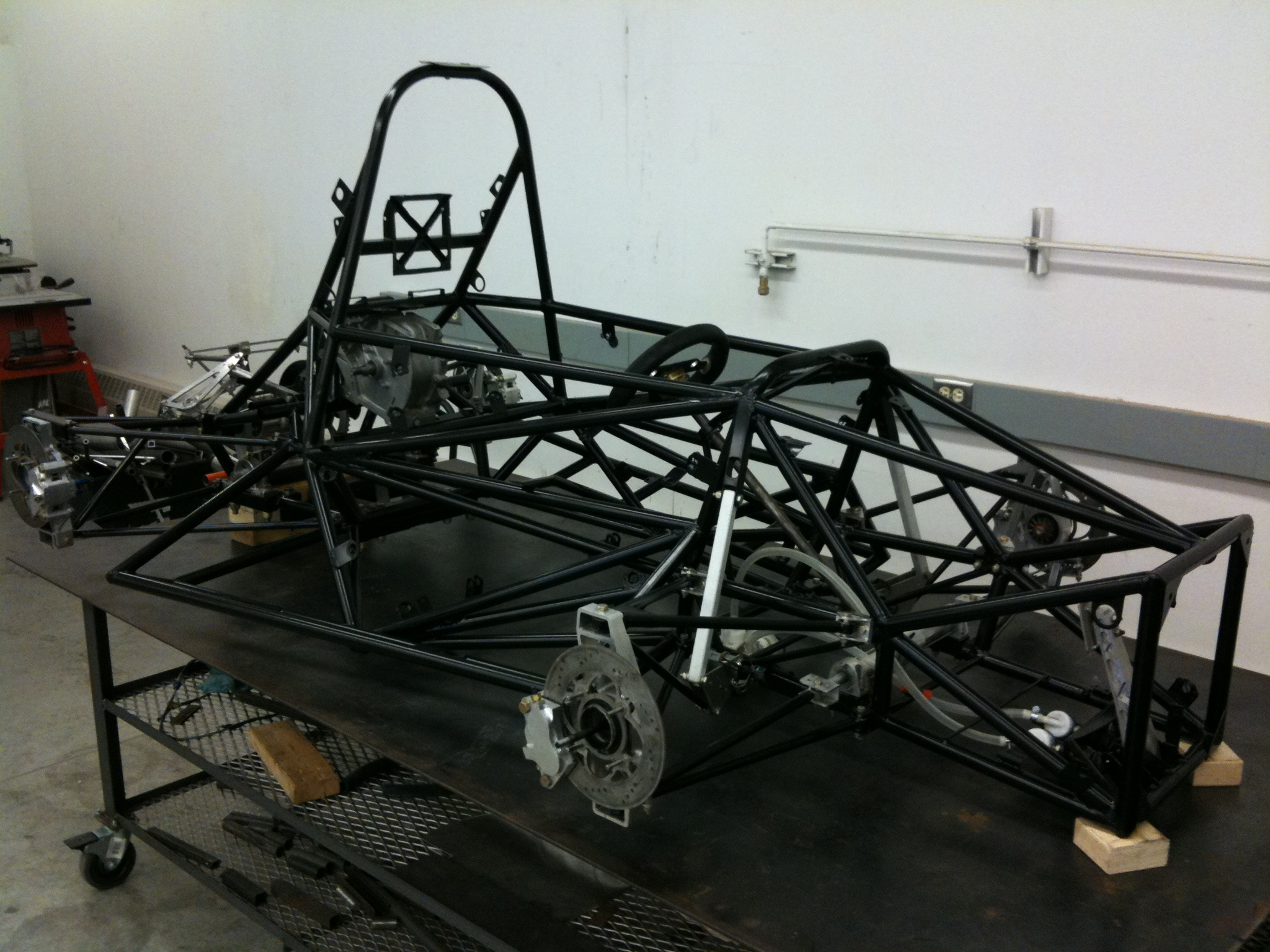 Chassis on our frame table