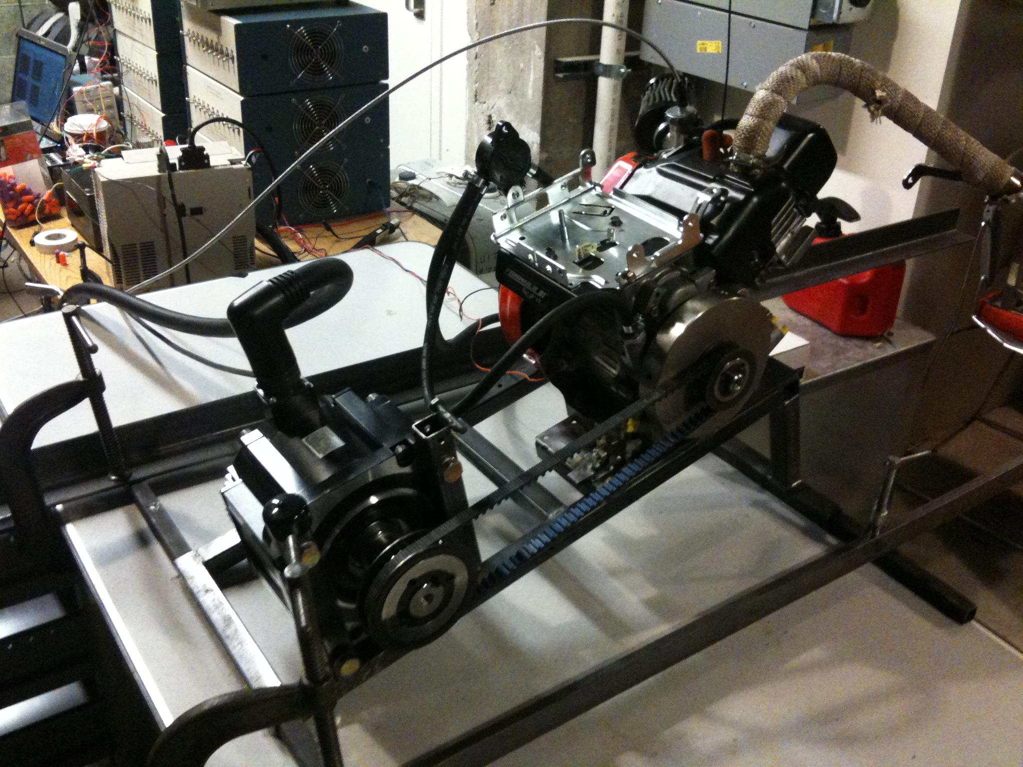 Dynoing engine using a Yaskawa industrial servo motor