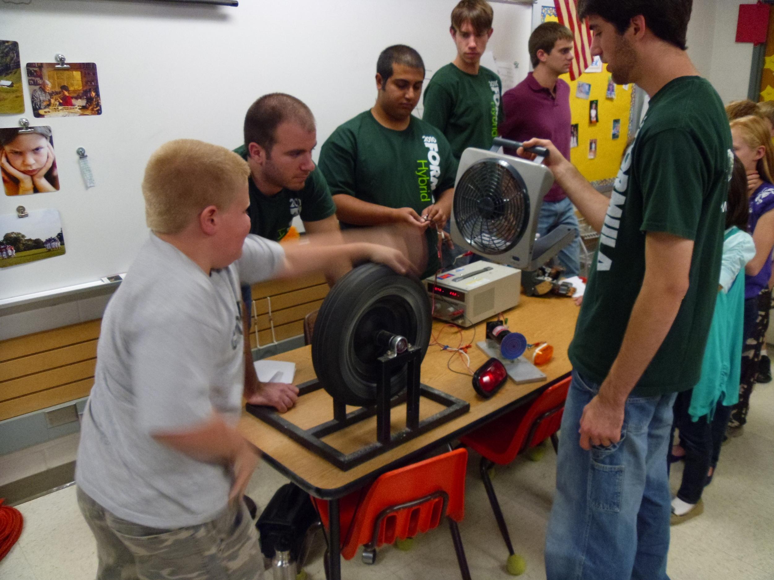Teaching kids about energy and regenerative braking