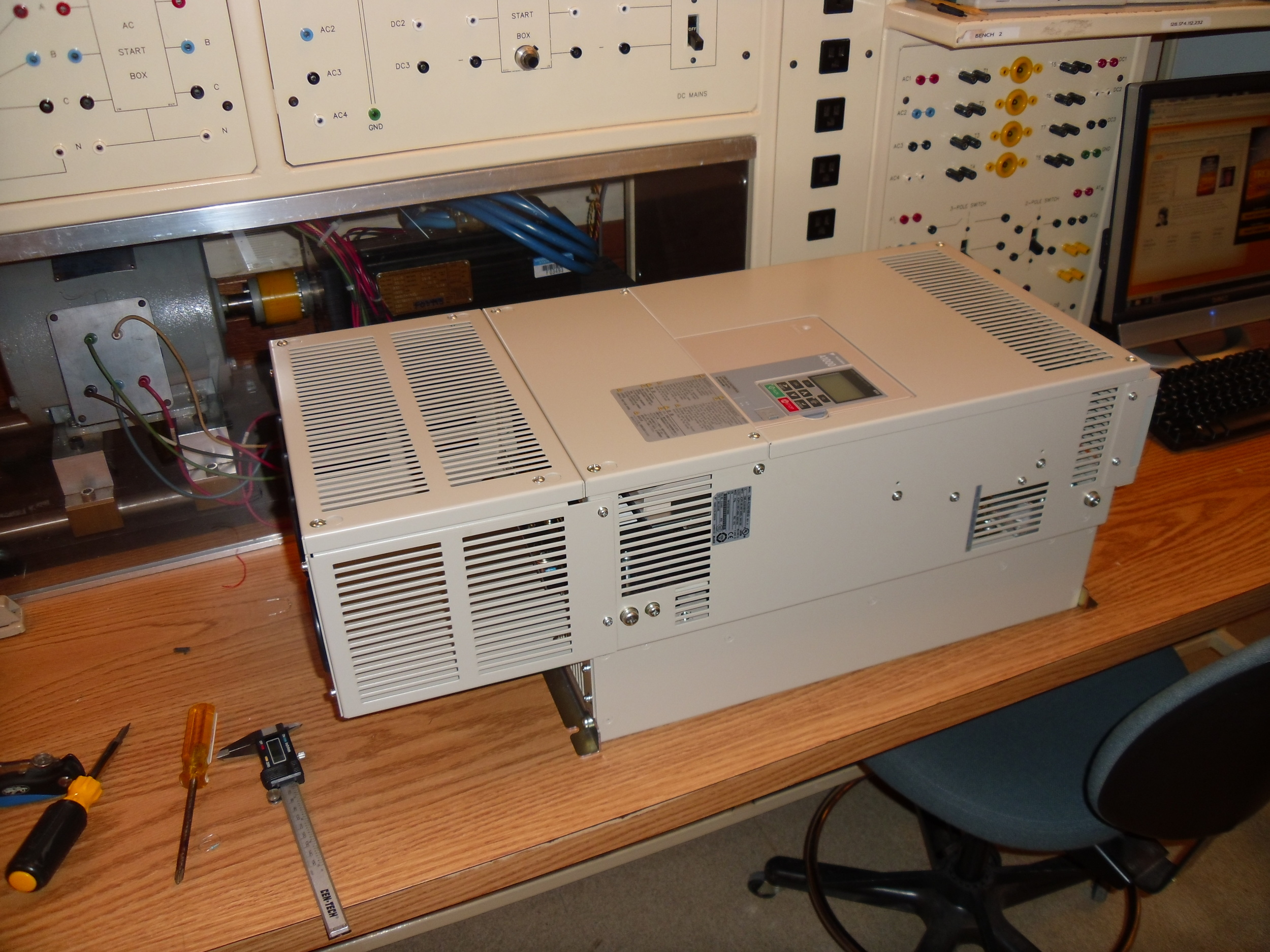 A1000 motor drive before repackaging