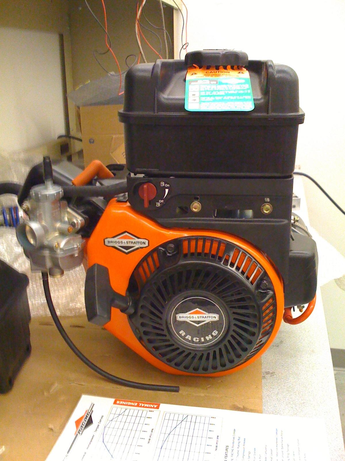 Briggs and Stratton, Animal 206cc racing engine (used as hybrid generator)