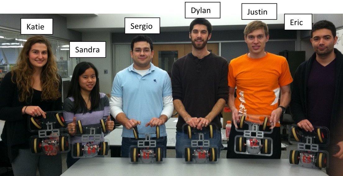Team E with our 6 remote control cars