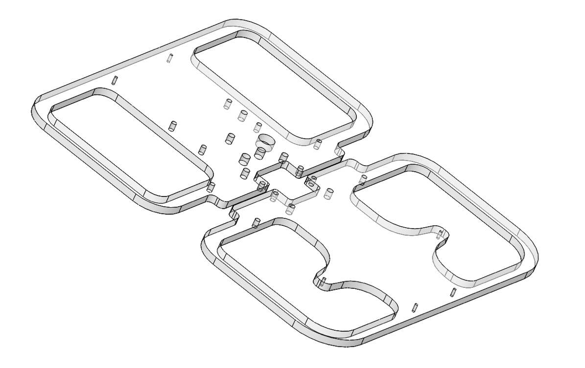 CAD view of polycarbonate bumpers