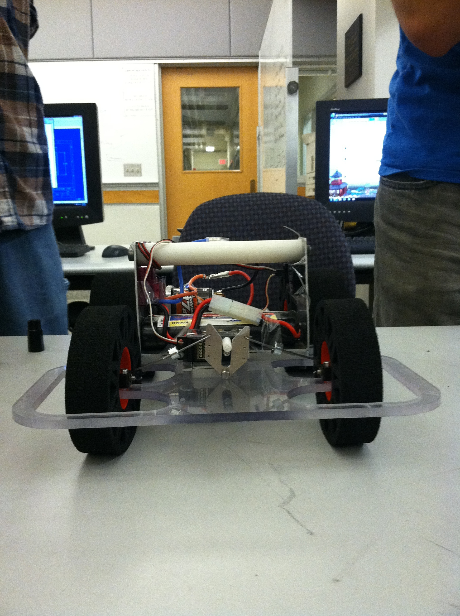 Finished car, front view