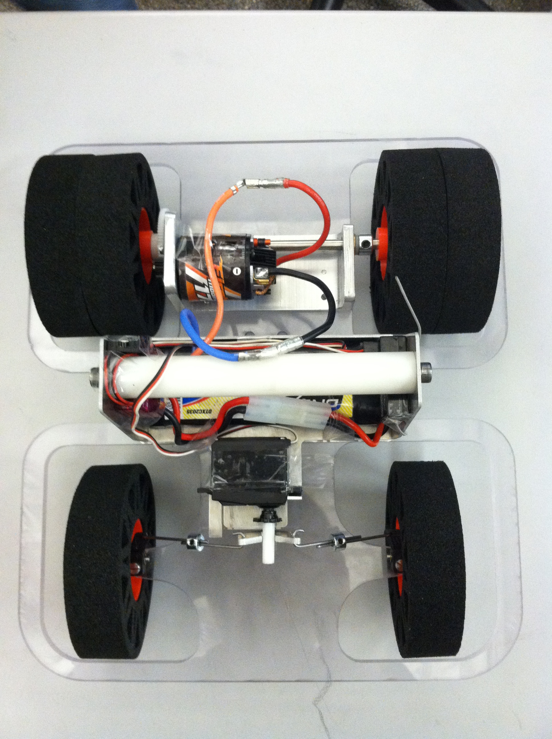 Finished car, top view