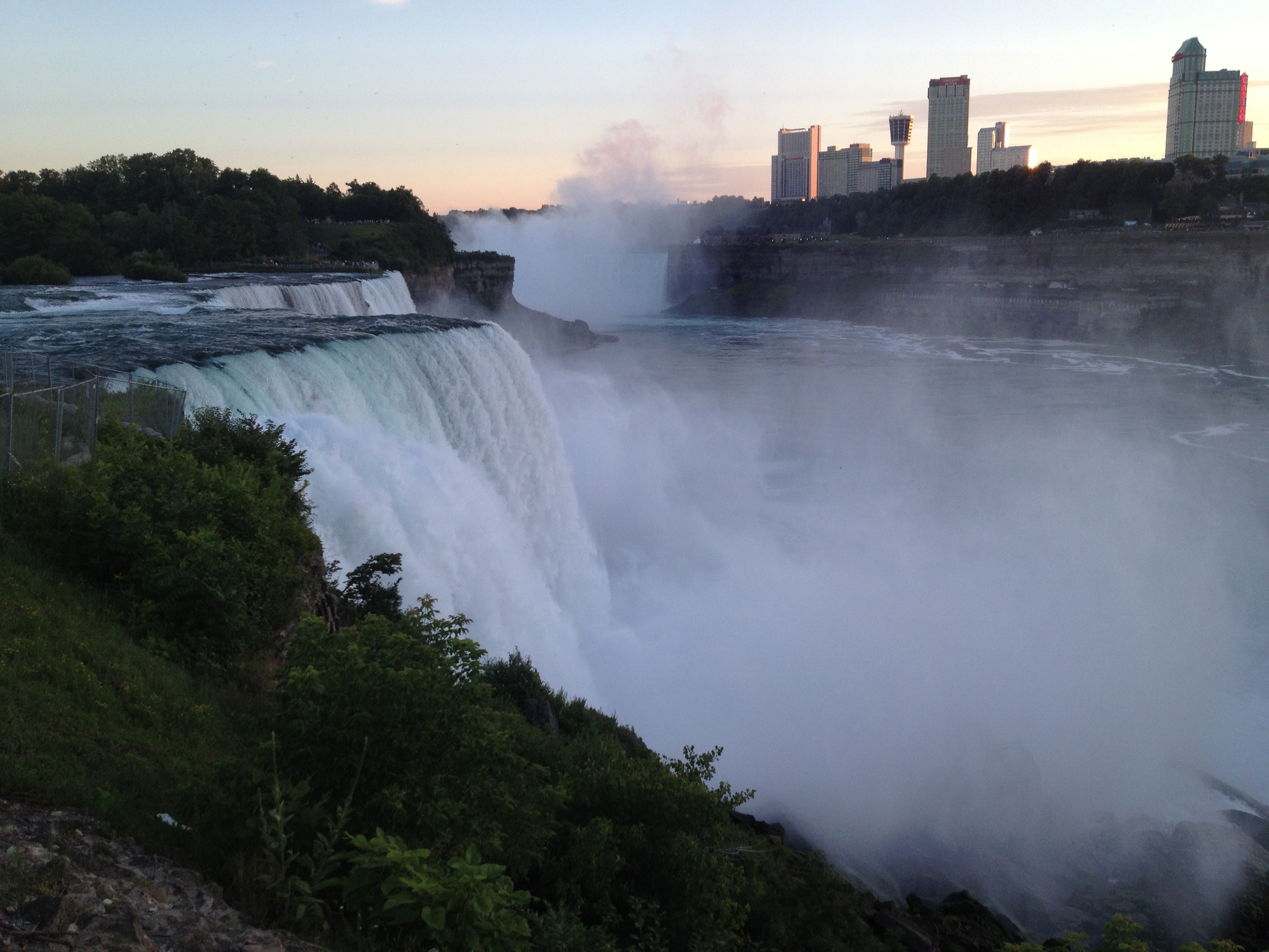 Here's an interesting picture of Niagara falls that I took...