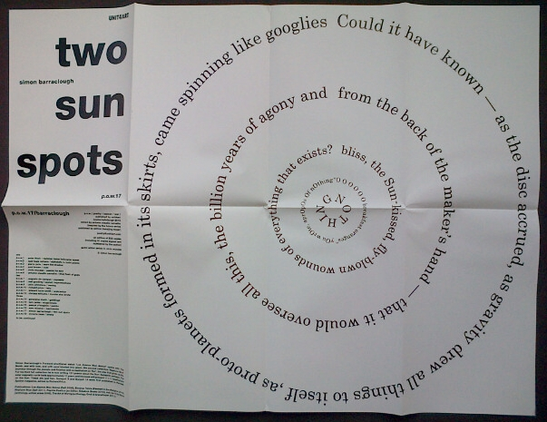 two sun spots: a limited edition of 30 signed posters