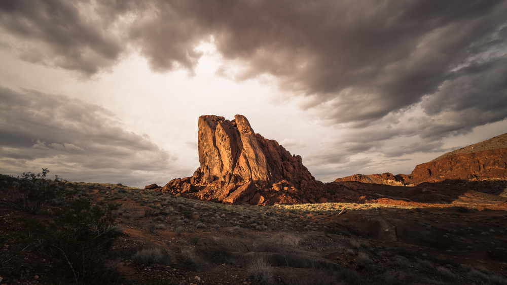"""""""Cloud Attack"""" in Valley of Fire, Nevada, USA (13. Oktober 2012)"""