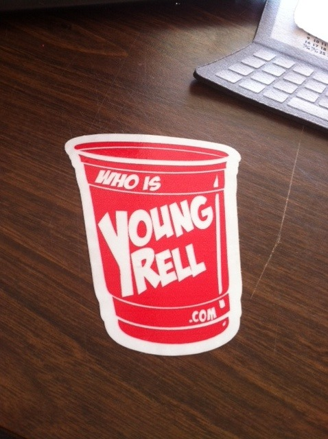 whoisyoungrell.com Stickers