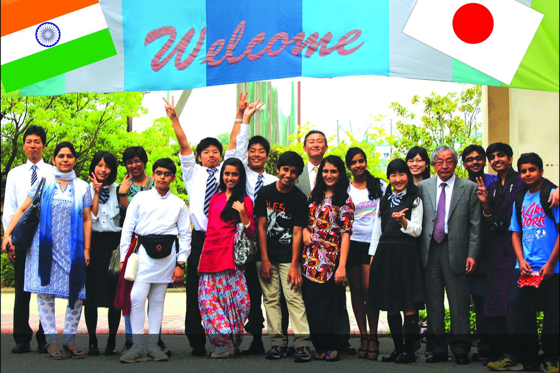 Bluebells visits to Keimei School, Kobe, Japan