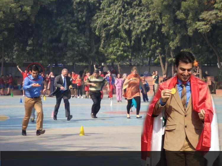 Principal, Mr. Hassan from Iraqi School, New Delhi