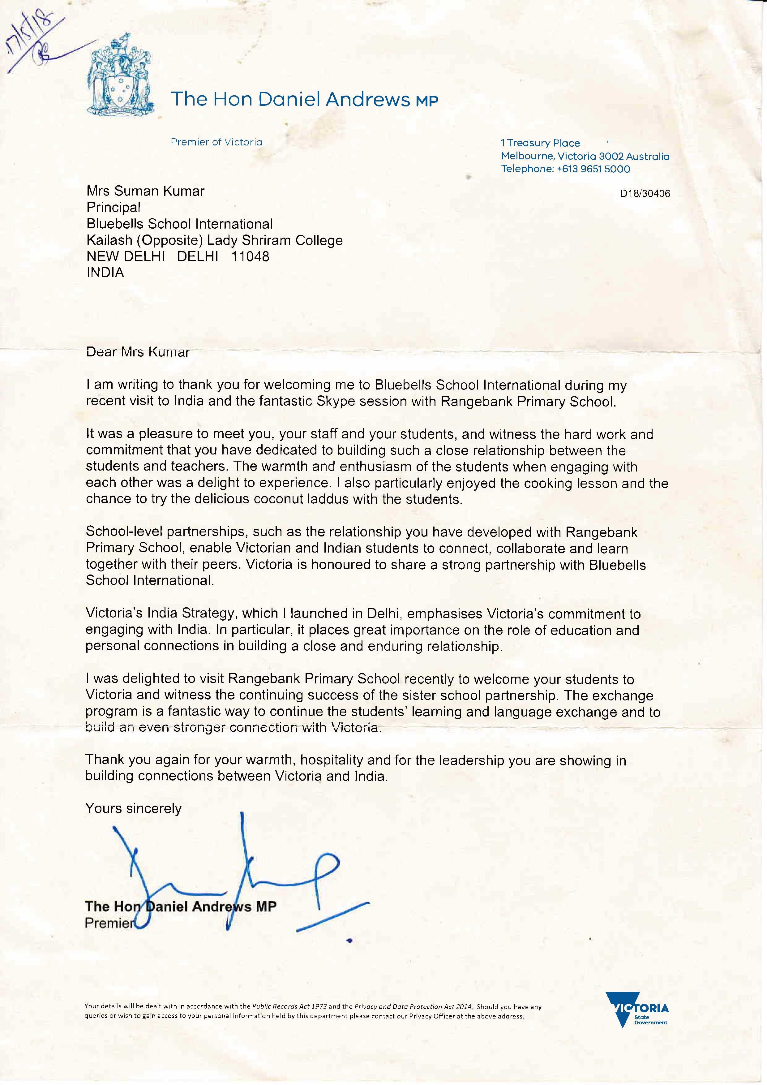 The Hon Daniel Andrews Letter.jpg