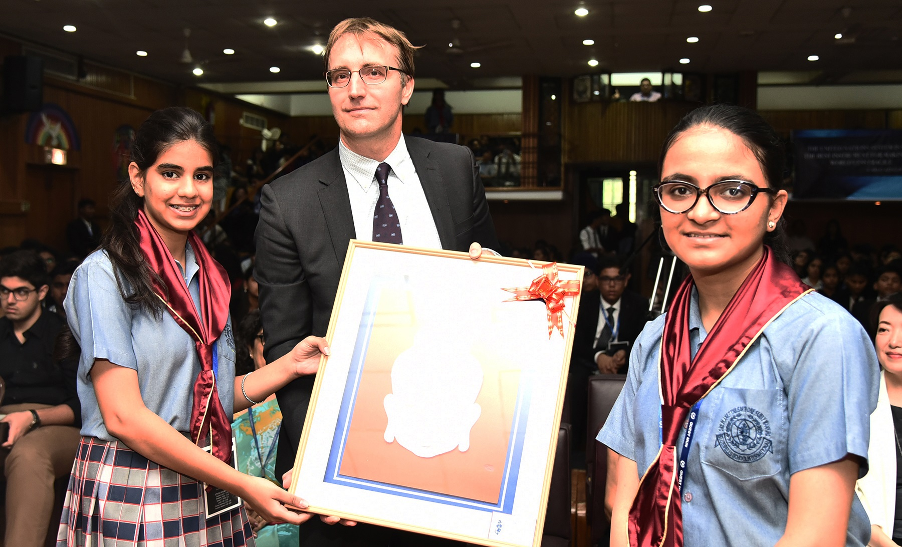 QUEST MUN Opening Ceremony - 25th October, 2018  Chief Guest - Derk Segaar, Director, UNIC  Guest of Honour - Dr. Miki Horrie, Principal, Ritsumeikan Primary School, Japan