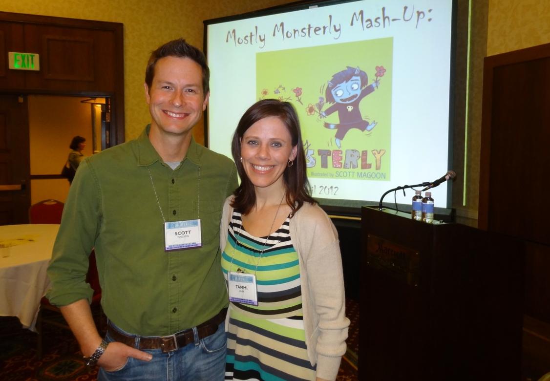 Tammi Sauer & me at the SCBWI Western Washington conference, April 2012. Photo courtesy  Dana Sullivan .