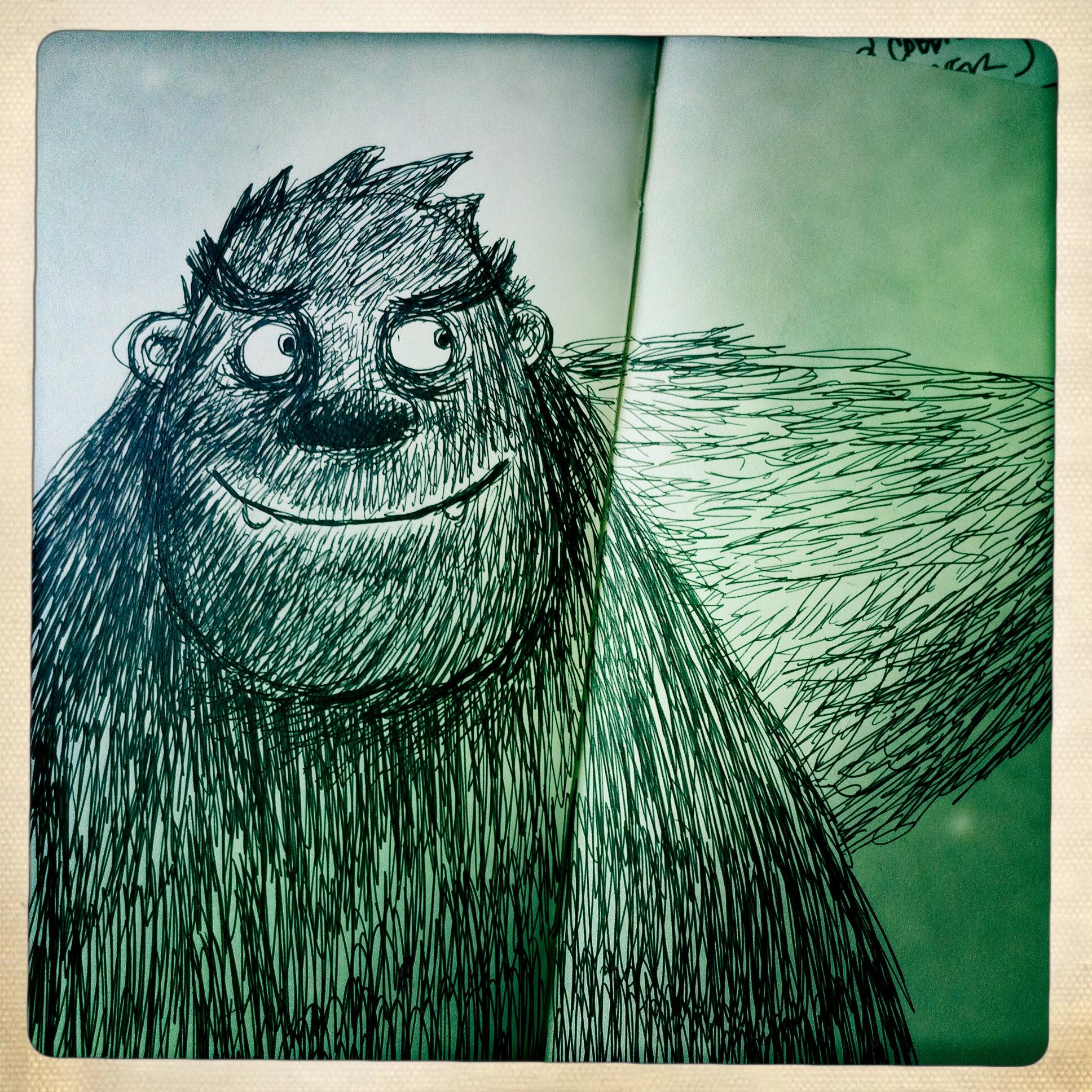 from my Squatchbook—er,  sketch book.