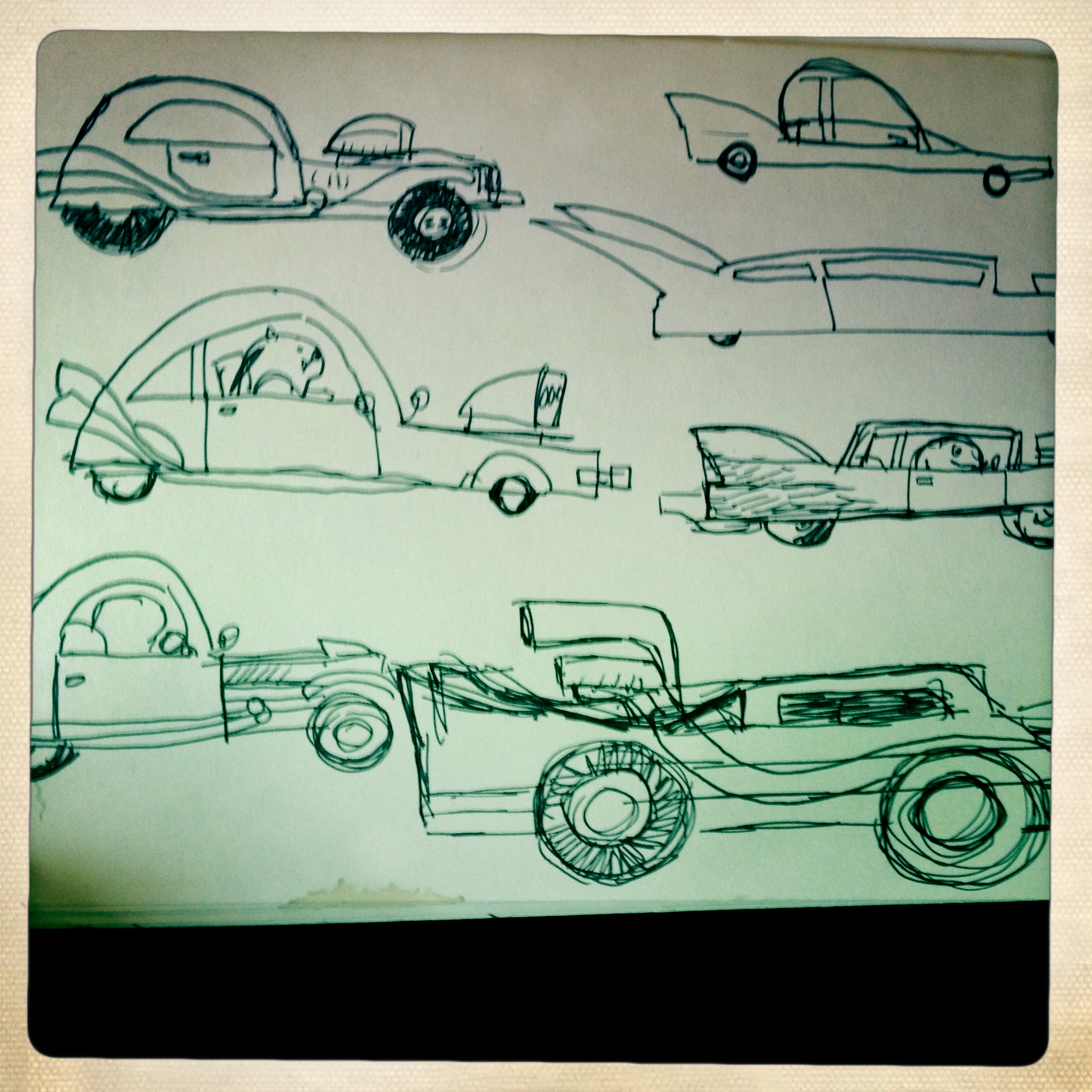 Worked on some car designs. Some of these made it into the book.