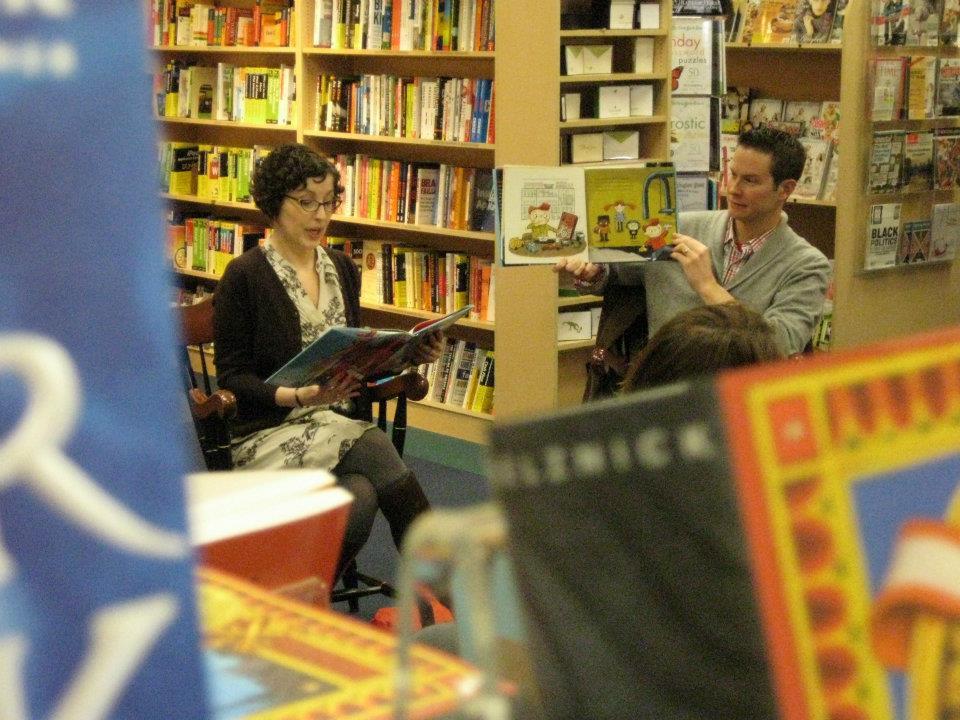 Kara LaReau reads with me at Porter Square Books Cambridge, MA
