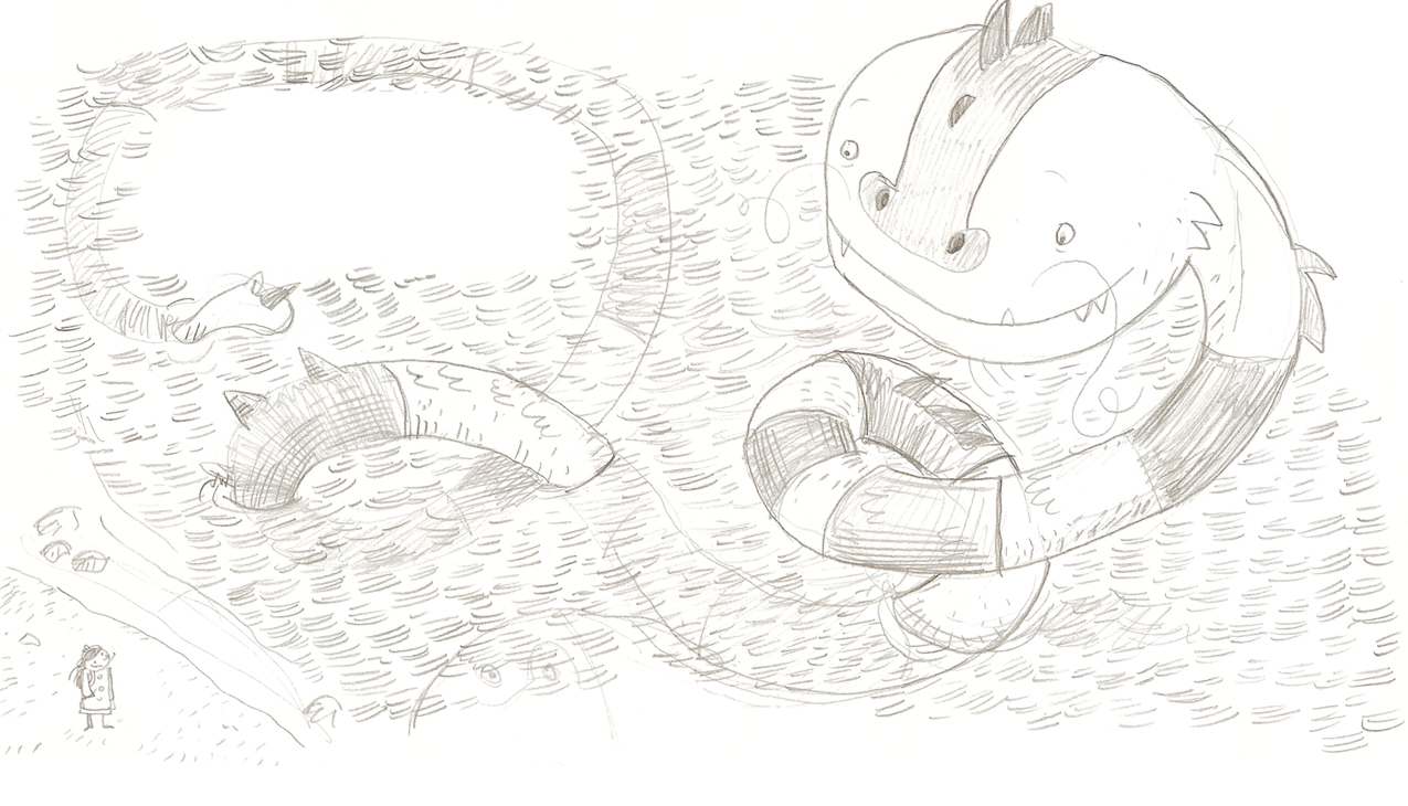 One of my favorite sketches for this book.