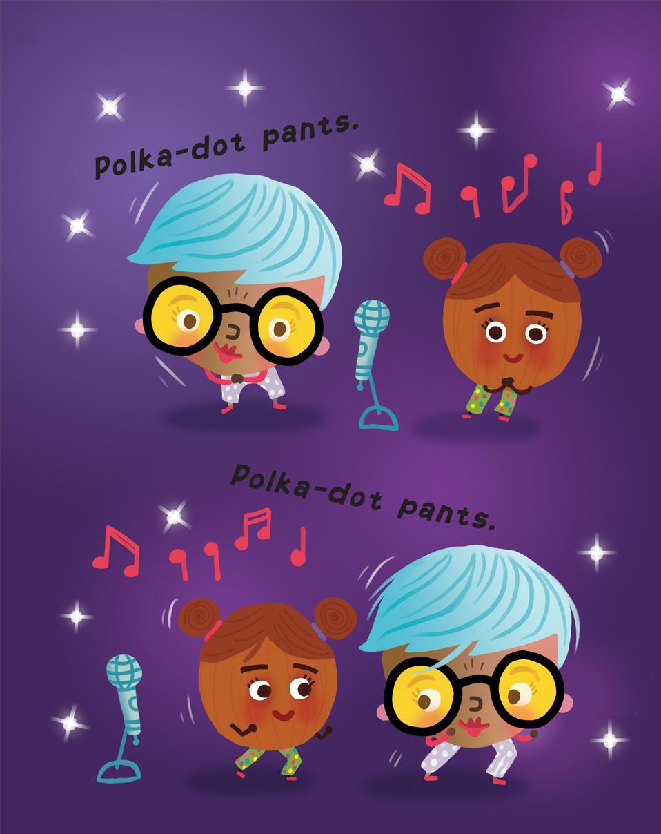 Polka-dot pants!